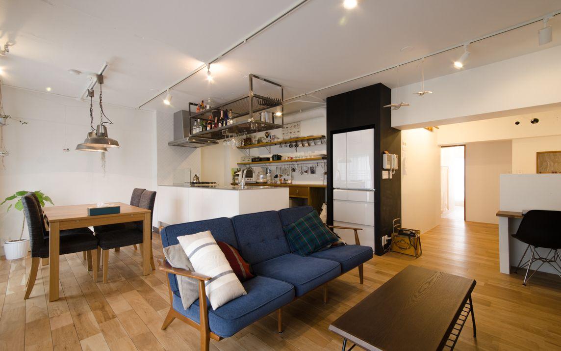 4人家族が1ldkを3ldkにリノベーション 子供部屋のスペースをどう確保した インテリアデザイン 模様替え マンションキッチン