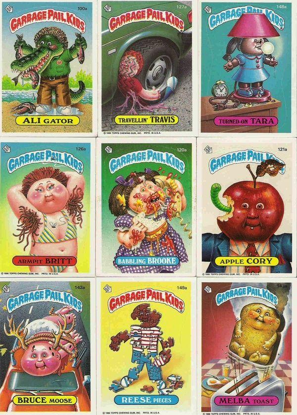 My Sister Had These Garbage Pail Kids Garbage Pail Kids Cards My Childhood Memories
