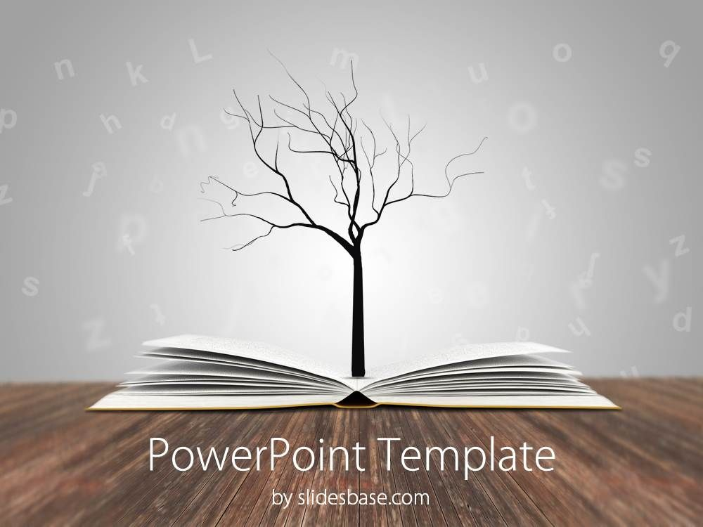 book-tree-education-knowledge-reading-writing-learning-school, Modern powerpoint