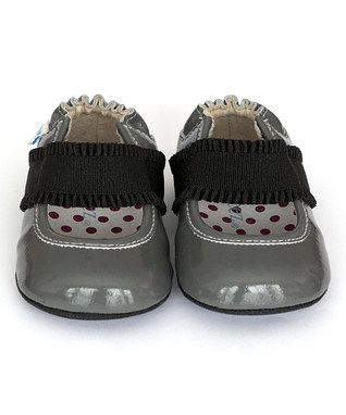 Cool Gray Annie Leather Ballet Flat