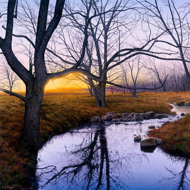Mind Blowing Hyper Realistic Watercolor Paintings By Steven Kozar Watercolor Paintings Watercolor Landscape Landscape Paintings
