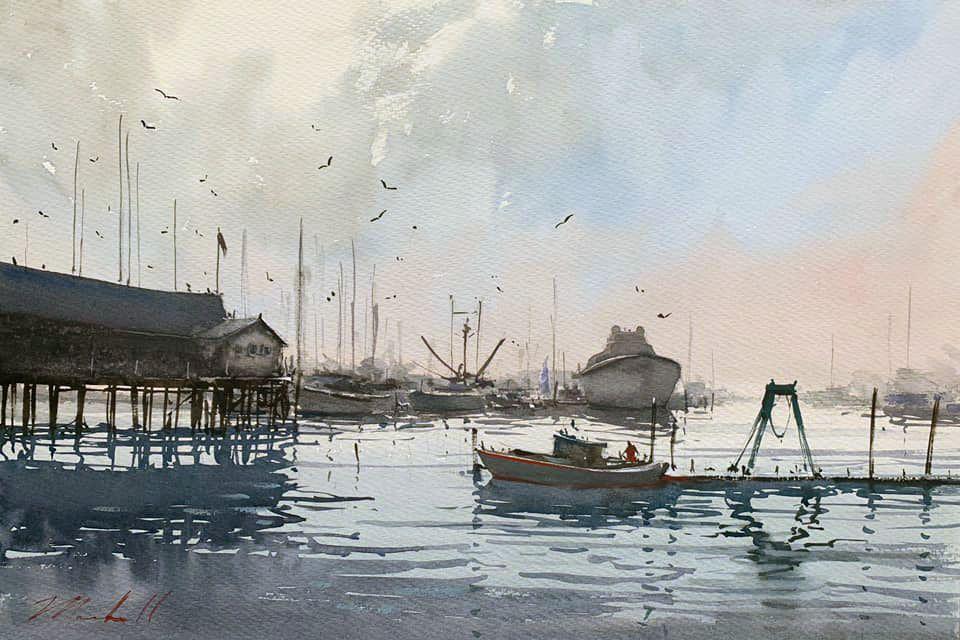 zbukvic joseph sketch redo marshall plein rockland harbor daniel half sheet studio air