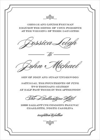 Invite Guests To Your Posh Event With Elegant Script Wedding Script Wedding Invitations Traditional Wedding Invitations Traditional Wedding Invitation Wording