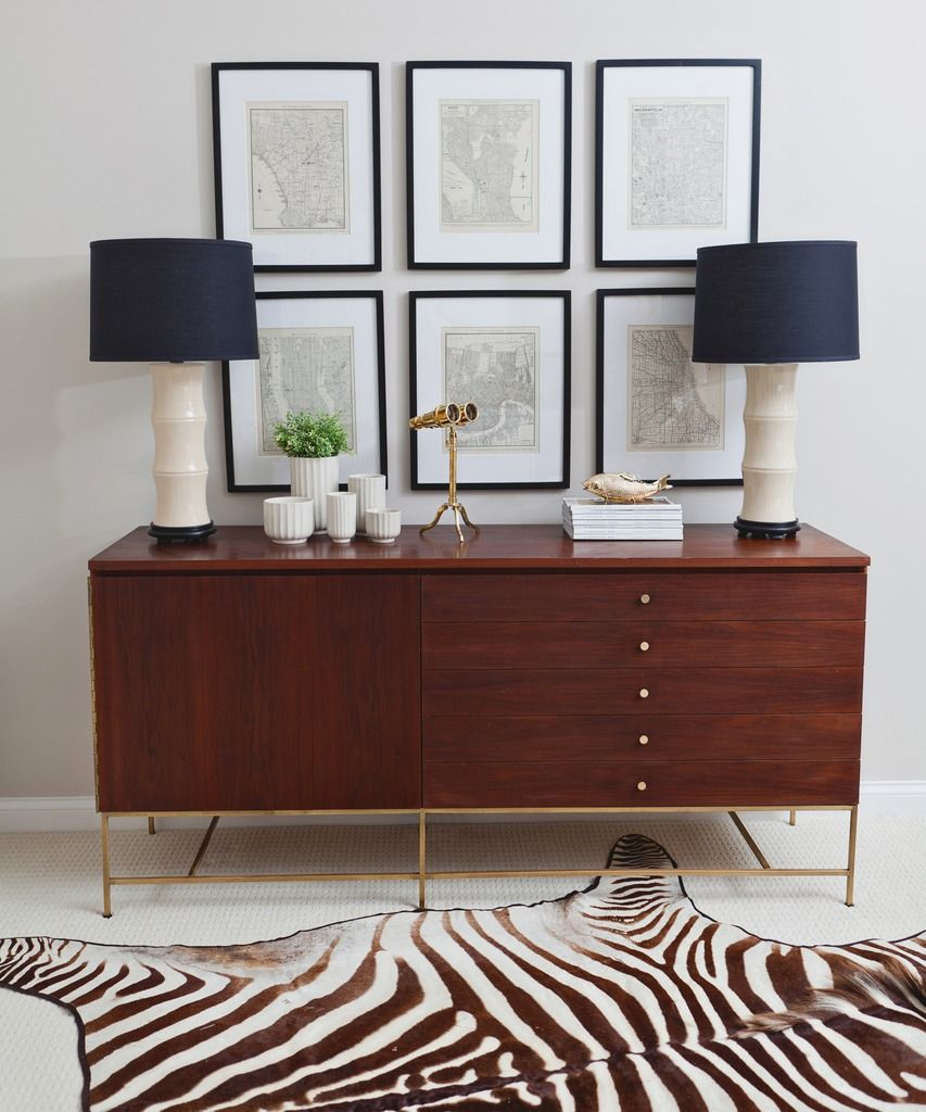 paul mccobb credenza with zebra entry decorating ideas. Black Bedroom Furniture Sets. Home Design Ideas