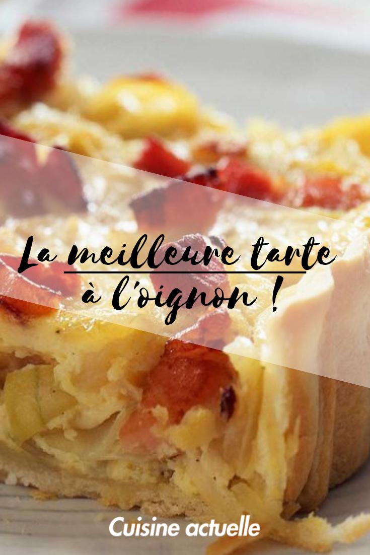 Tarte à l'oignon, fromage blanc et lardons Recette
