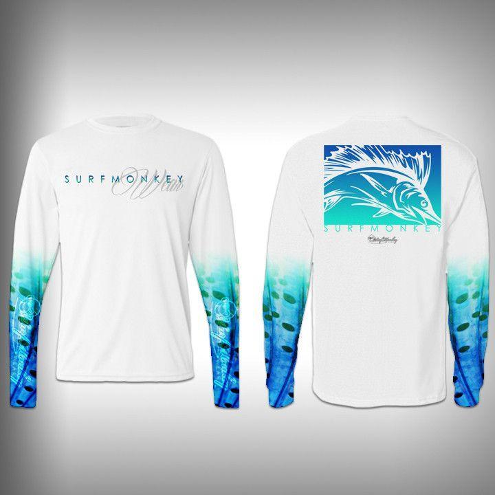 Sailfish sail sleeve shirt surfmonkey performance for Performance fishing gear shirts
