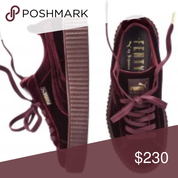 on sale deddb 4607d Rihanna fenty creepers Brand new never worn red velvet ...