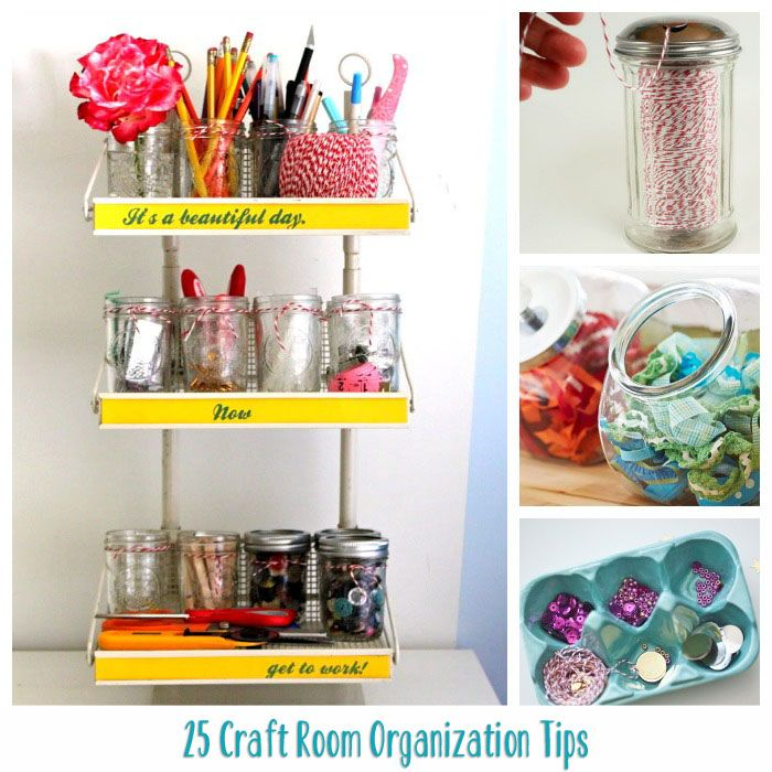 Amazing Diy Room Organization Part - 8: 25 Craft Room Organization Tips