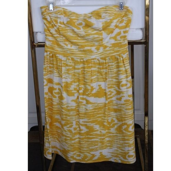 Charlotte Russe yellow sun dress Great dress! Fits good. Only worn once. Fabrics are linen and rayon.  Will go lower on the app merc! Charlotte Russe Dresses Mini