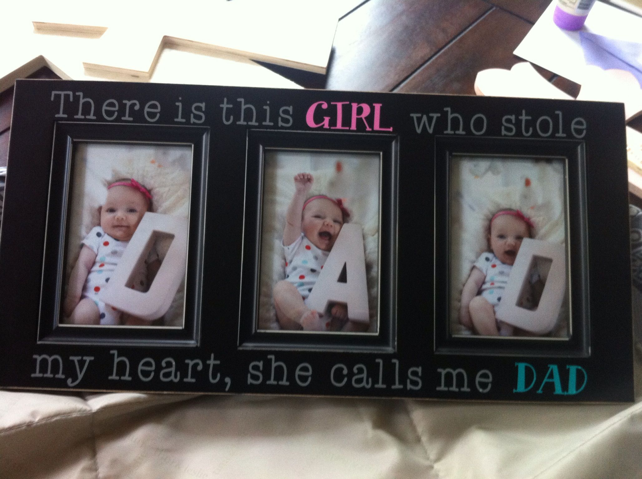 There Is This Girl Who Stole My Heart Father S Day Gift Idea First Father S Day Gift I Diy Father S Day Gifts From Baby Father S Day Diy 1st Fathers Day Gifts