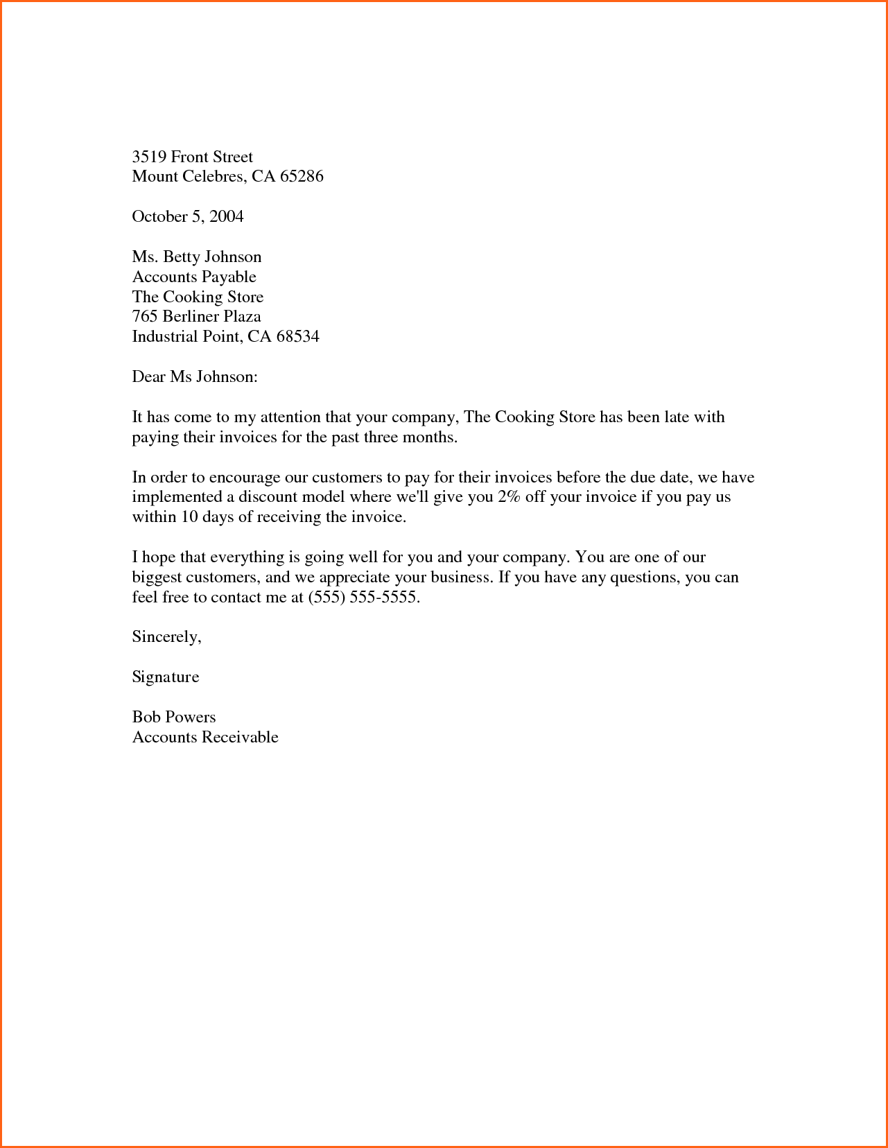 letters with letterhead