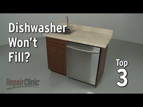 Dishwasher Won T Fill With Water Dishwasher Troubleshooting Youtube Dishwasher Leaking Kitchenaid Dishwasher Dishwasher Not Draining