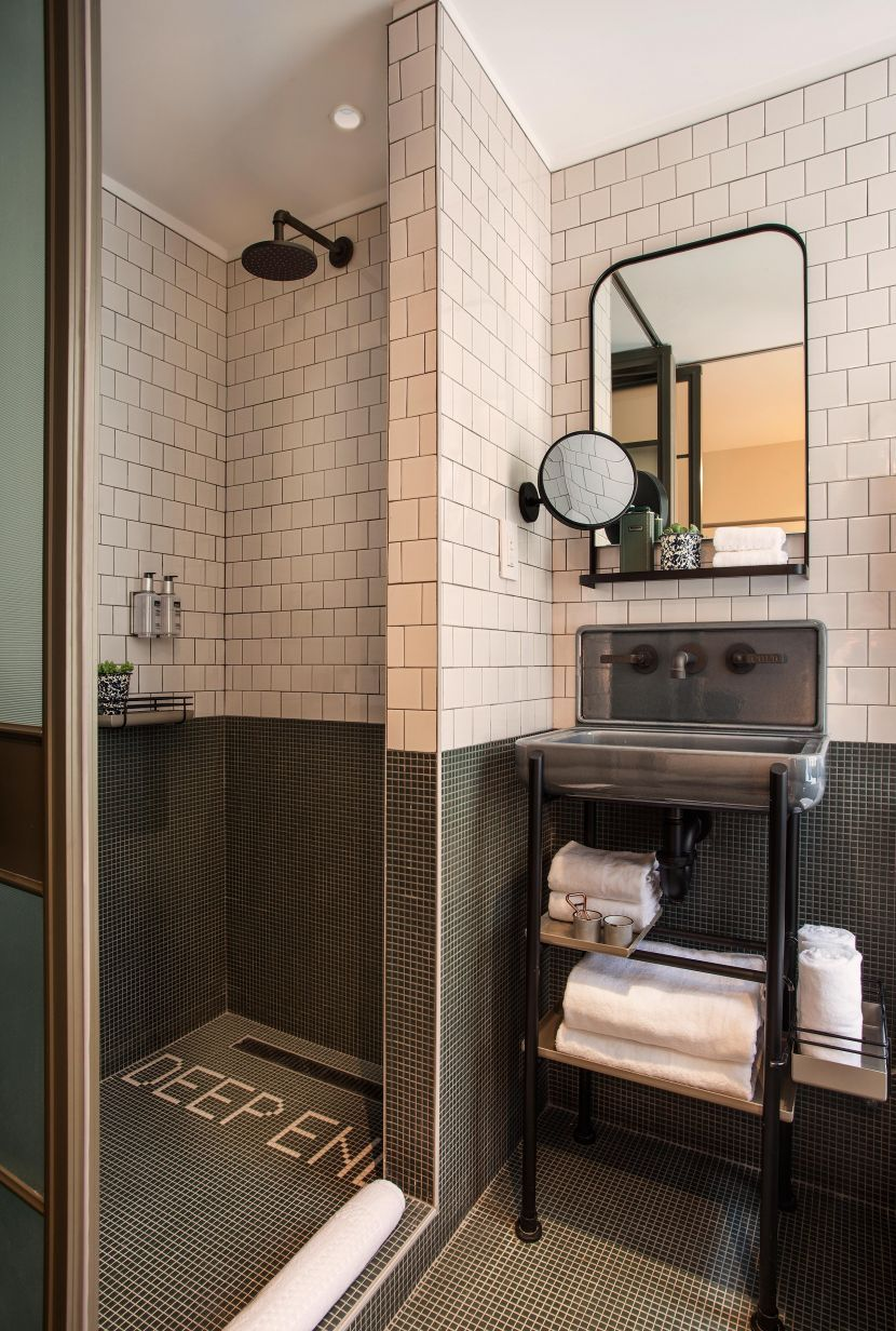 Trendy Modern Hotel In Nyc Bathroom Bathroom Small Spaces Room