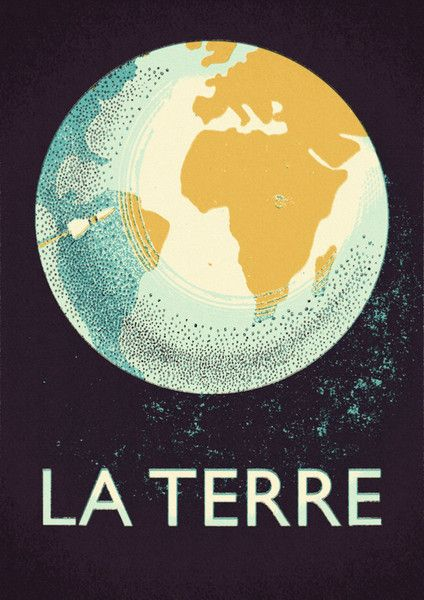La Terre Green print by Double Merrick