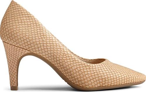 Aerosoles Women's Exquisite Pump Shoes in Light Tan Snake