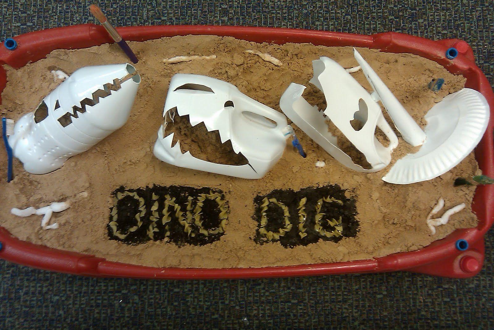 Dinosaur Skulls Out Of Milk Jugs And Soda Bottles