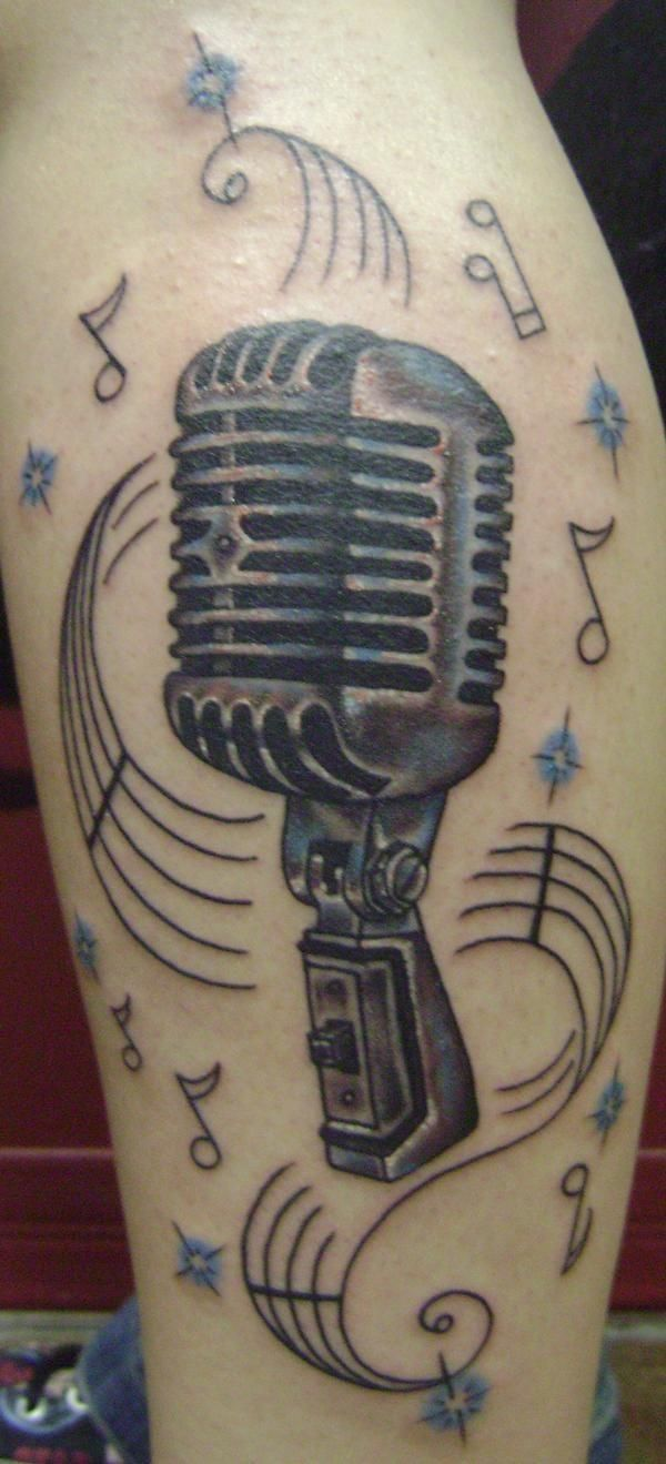 microphone tattoos for women | Shure Mic Tattoos ... | 600 x 1319 jpeg 93kB