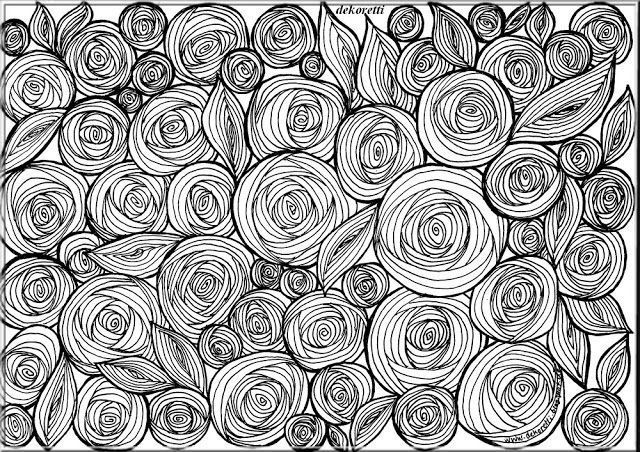 Ich Habe Kurzlich Ein Schones Muster Entdeckt Das Mich An Rosenbluten Erinnerte Mit Dem Rosenblutenmuster Habe Ich Ausmalen Ausdrucken Schone Muster