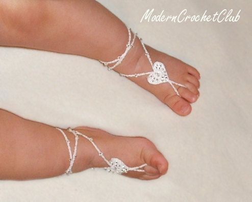 PRECIOUS HEART BABY Barefoot Sandals,Valentine's Day gift, nude shoes, beach wedding accessory, lace shoes, anklet, pool party on Etsy, $15.00