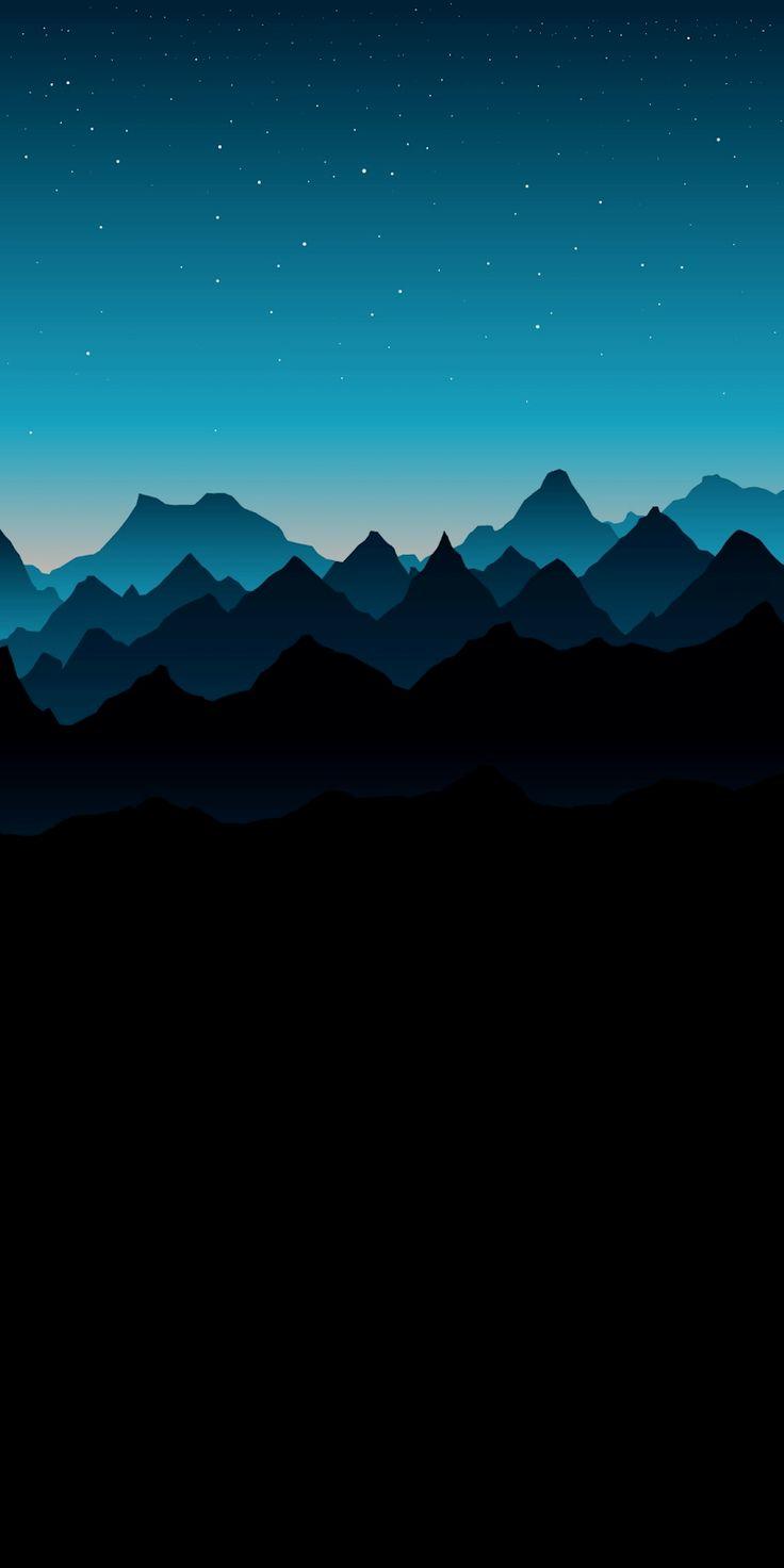 Blue Mountain Amoled Tapete Telefon Android Hintergrund Followme Freie Hintergrundbilder Zum H Abstract Art Wallpaper Art Wallpaper Iphone Minimalist Wallpaper