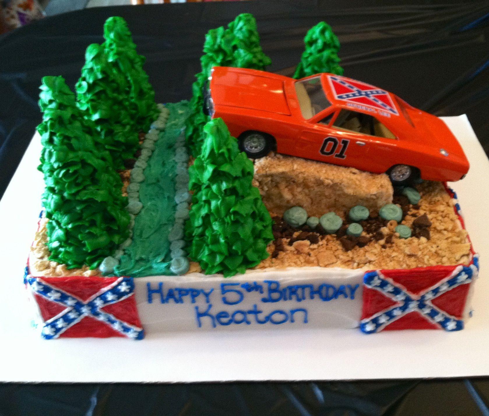 General Lee Birthday Cake