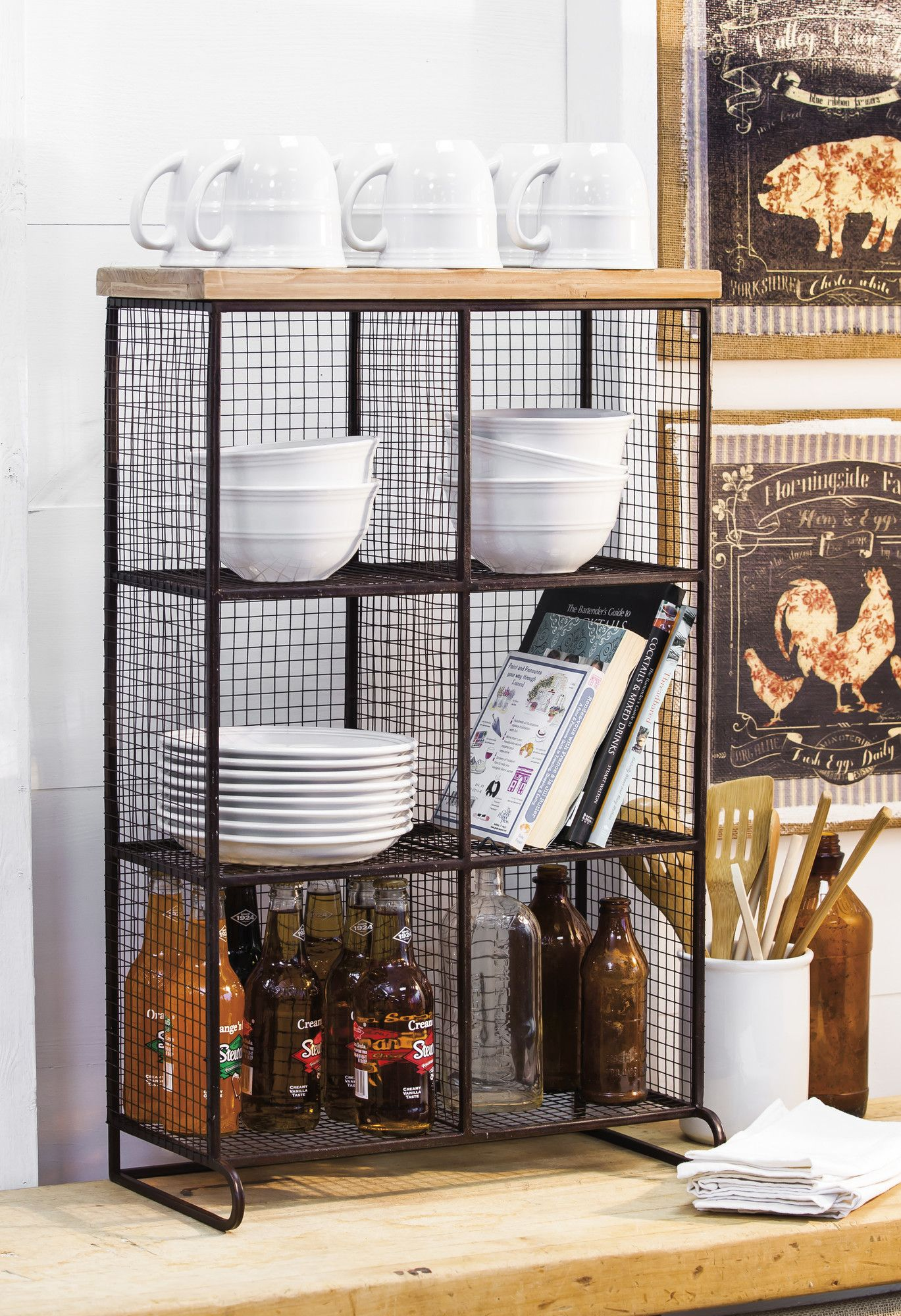 Farias Wire Mesh 6 Bin Cubical Storage | Products | Pinterest | Wire ...