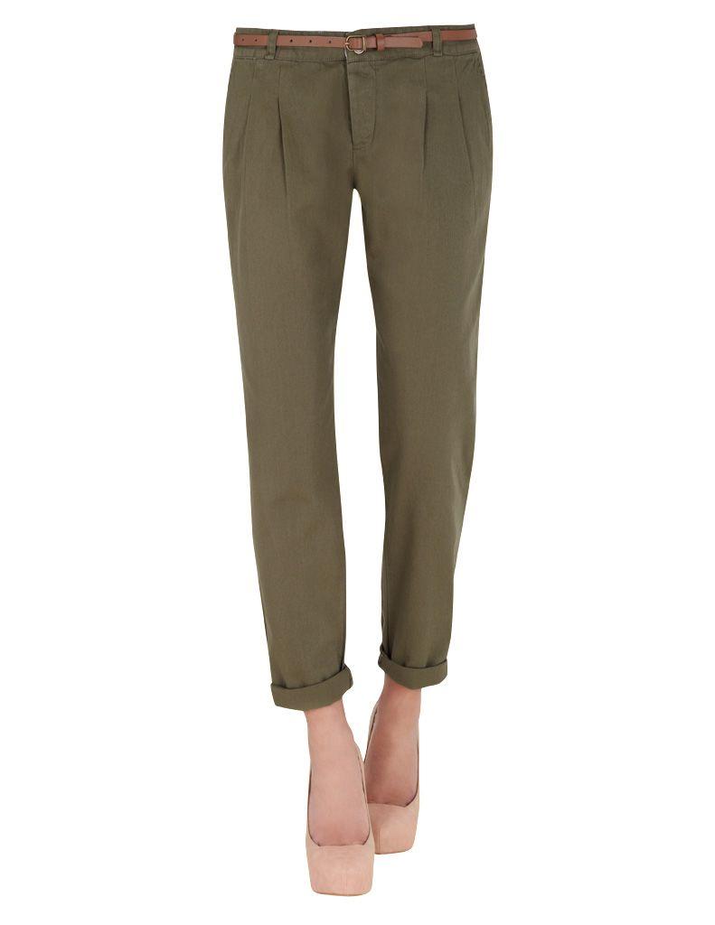 Pantalon Con Pinzas Verde Pants Fashion Office Outfits