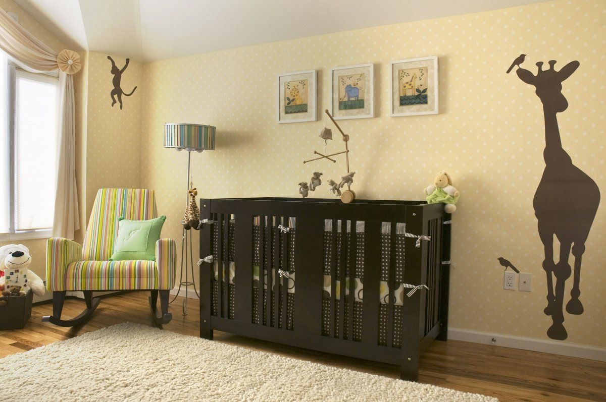 Cozy Modern Beige Brown Baby Room Nursery Decorating Ideas with ...