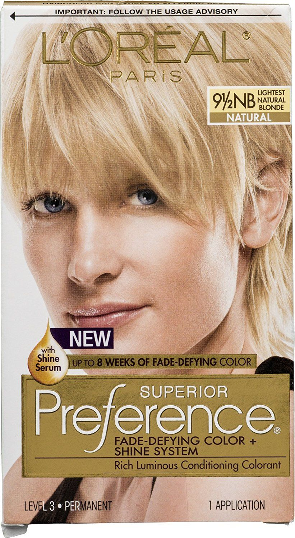 L Oreal Paris Superior Preference Fade Defying Color Shine System 9 1 2 Nb Lightest Natural Blonde Natural Check Out Loreal Loreal Paris Natural Blondes