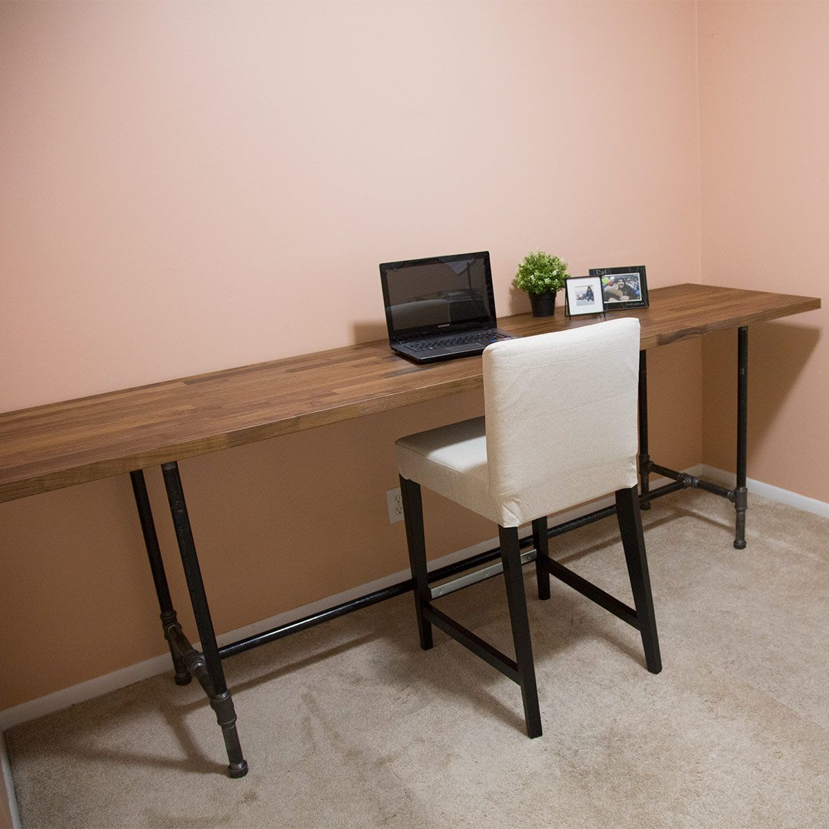 Office Chair Sinking Best For Hemorrhoids How To Build A Pipe Desk Homestead Helps Pinterest