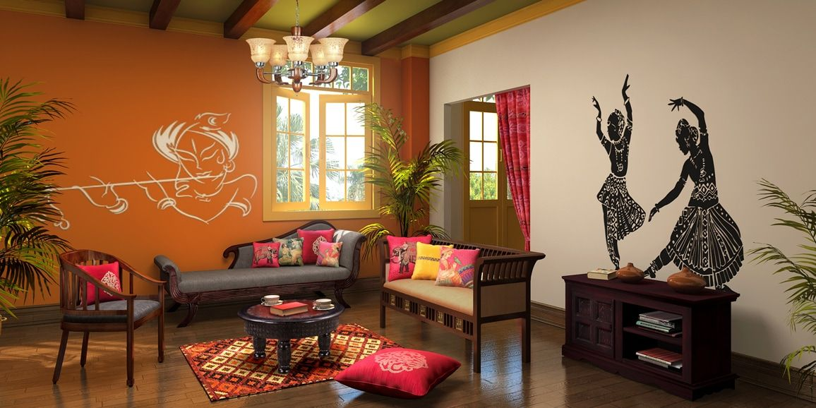 Traditionally Styled Living Room Livingroom Livingroomdecor Dancer Swallart Traditional Living Room Decor Traditional Indian Home Decor Indian Living Rooms