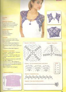 7dcb0386d5 Horgolt bolero minta | Crochet crazy - Cardigans, jackets, boleros ...