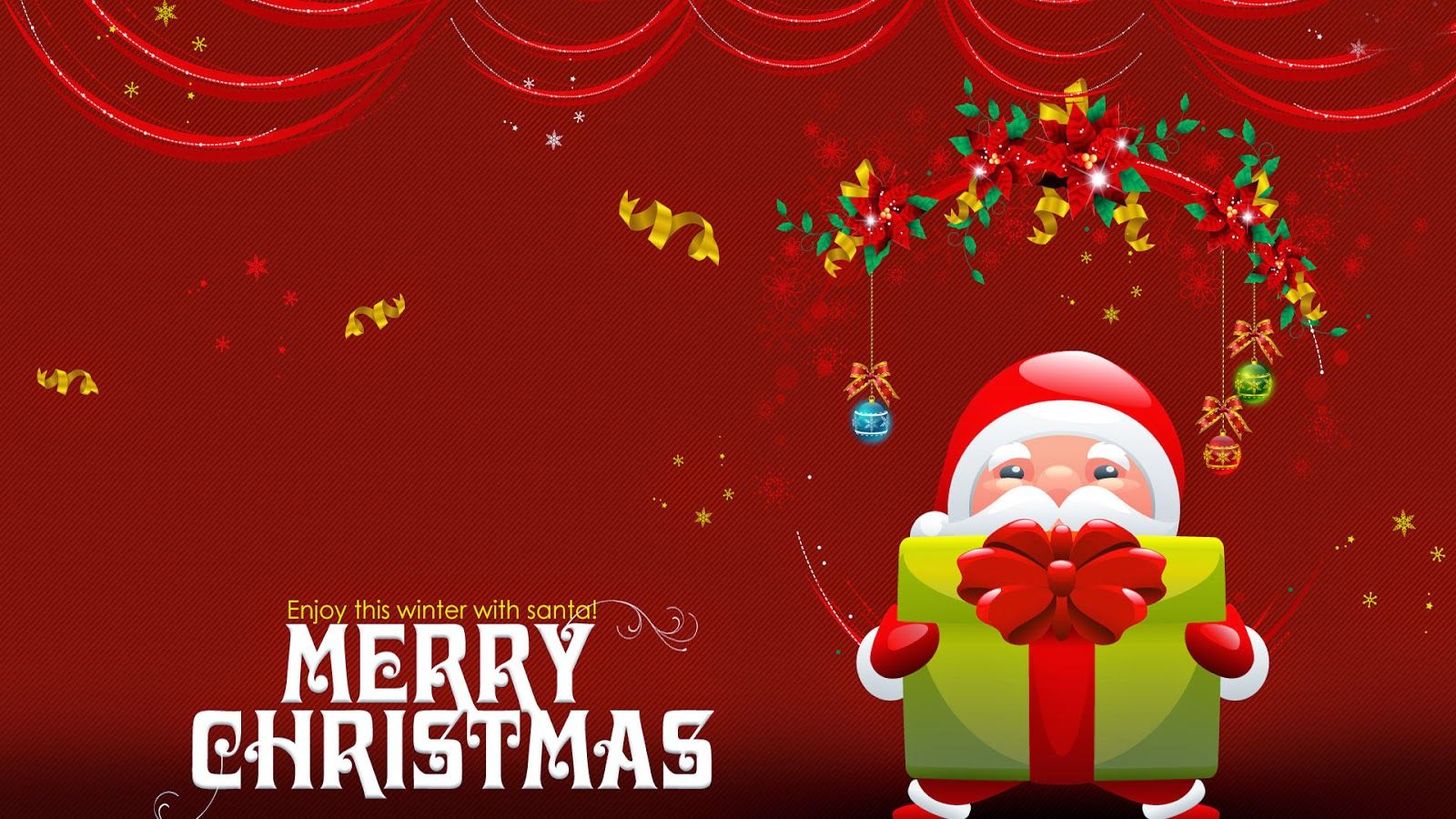Enjoy This Winter With Santa Greetings Wishes Text Hd Wallpaper Jpg Merry Christmas Message Merry Christmas Background Merry Christmas Images