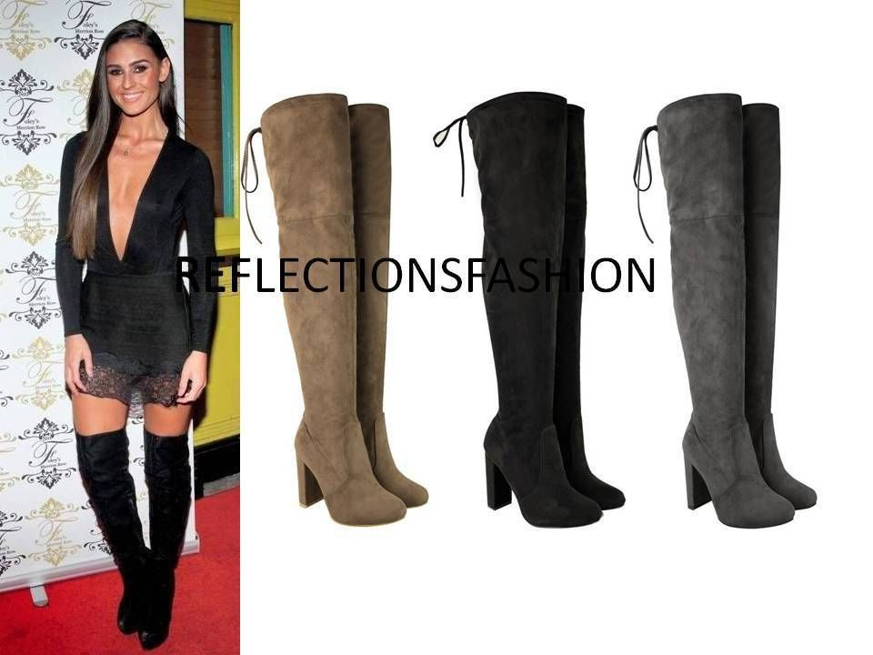 WOMENS LADIES THIGH HIGH BOOTS OVER THE KNEE PARTY STRETCH BLOCK MID HEEL SIZE https://t.co/cW1cPoq7j6 https://t.co/CgGfbfDbSS
