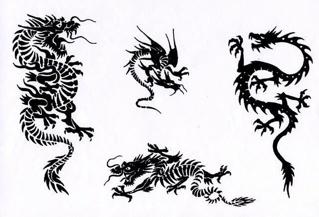pin tribal chinese dragon tattoos on pinterest japanese dragon tribal tattoo pinterest. Black Bedroom Furniture Sets. Home Design Ideas