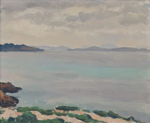 Albert Marquet (1875-1947)  - Une baie sur la Méditerranée (baia del Mediterraneo) - probabilmente nel 1924 - Arp Museum Rolandseck Bahnhof (Germania), collezione Rau per l'UNICEF .