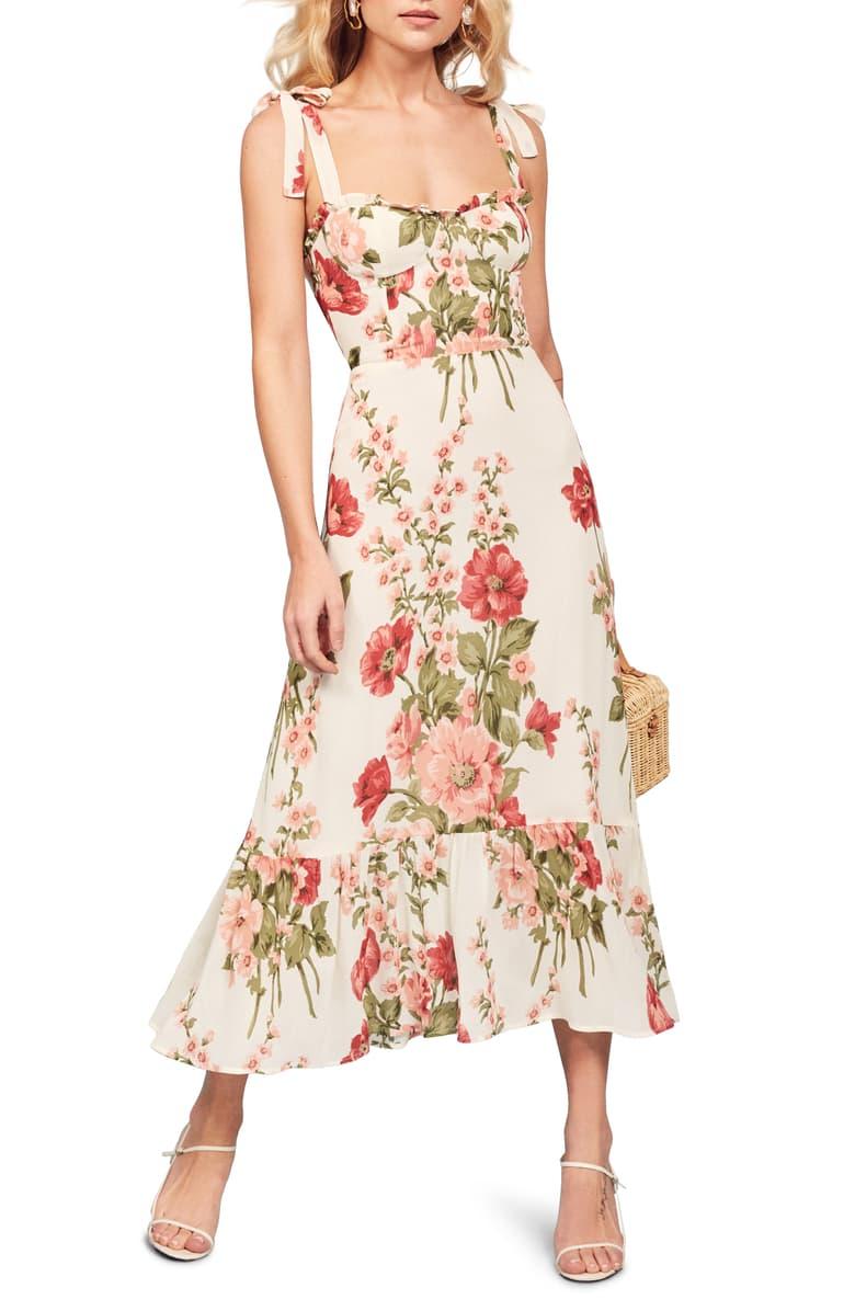 Reformation Nikita Midi Dress Nordstrom Calf Length Dress Dresses Nordstrom Dresses [ 1196 x 780 Pixel ]