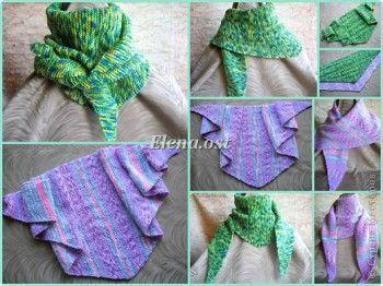 бактус треугольный шарф косынка мк вязание спицами вязание