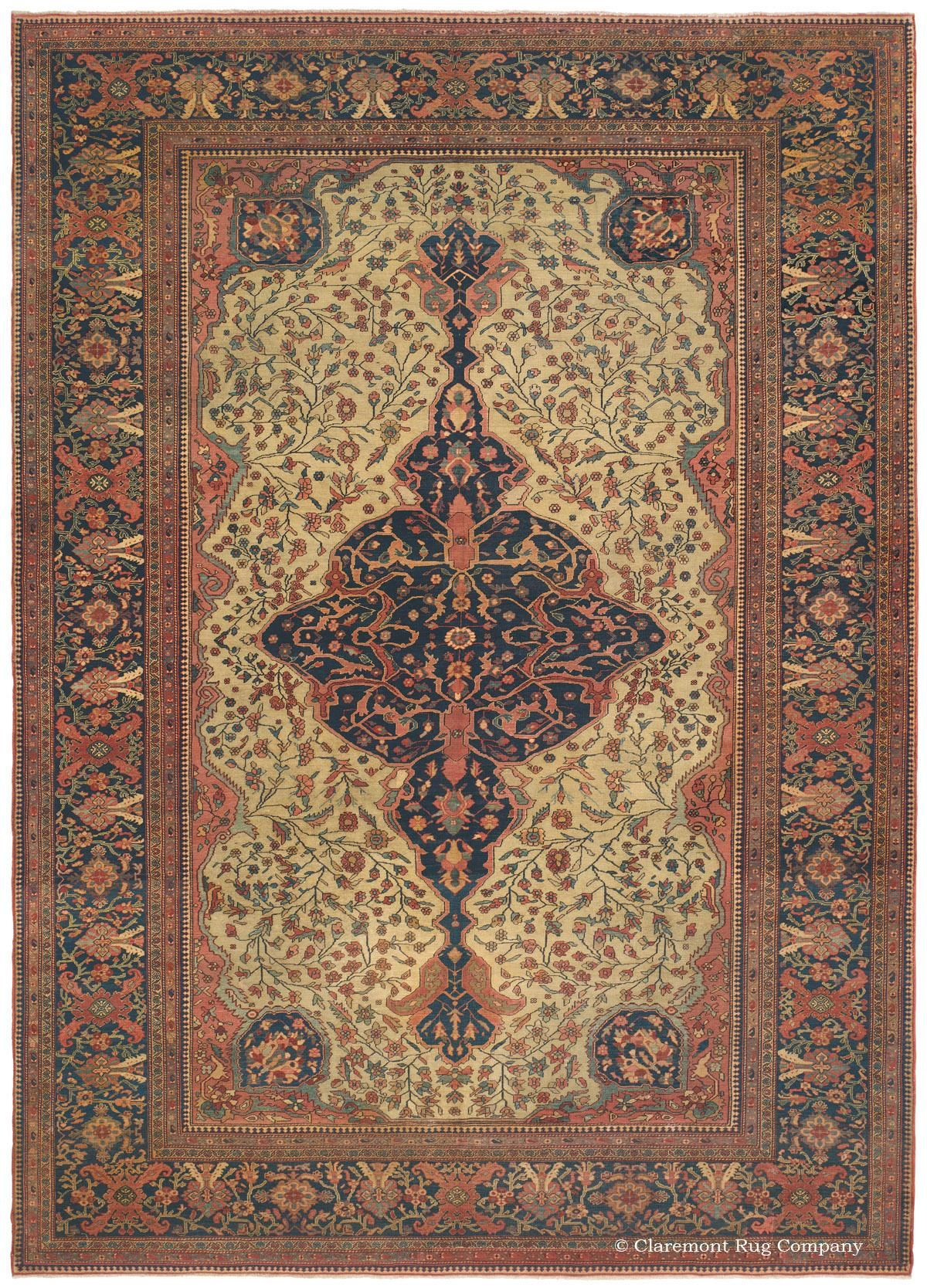 Ferahan Sarouk West Central Persian 8ft 8in X 12ft 3in 3rd Quarter 19th Century Persian Rug Designs Carpet Handmade Antique Oriental Rugs