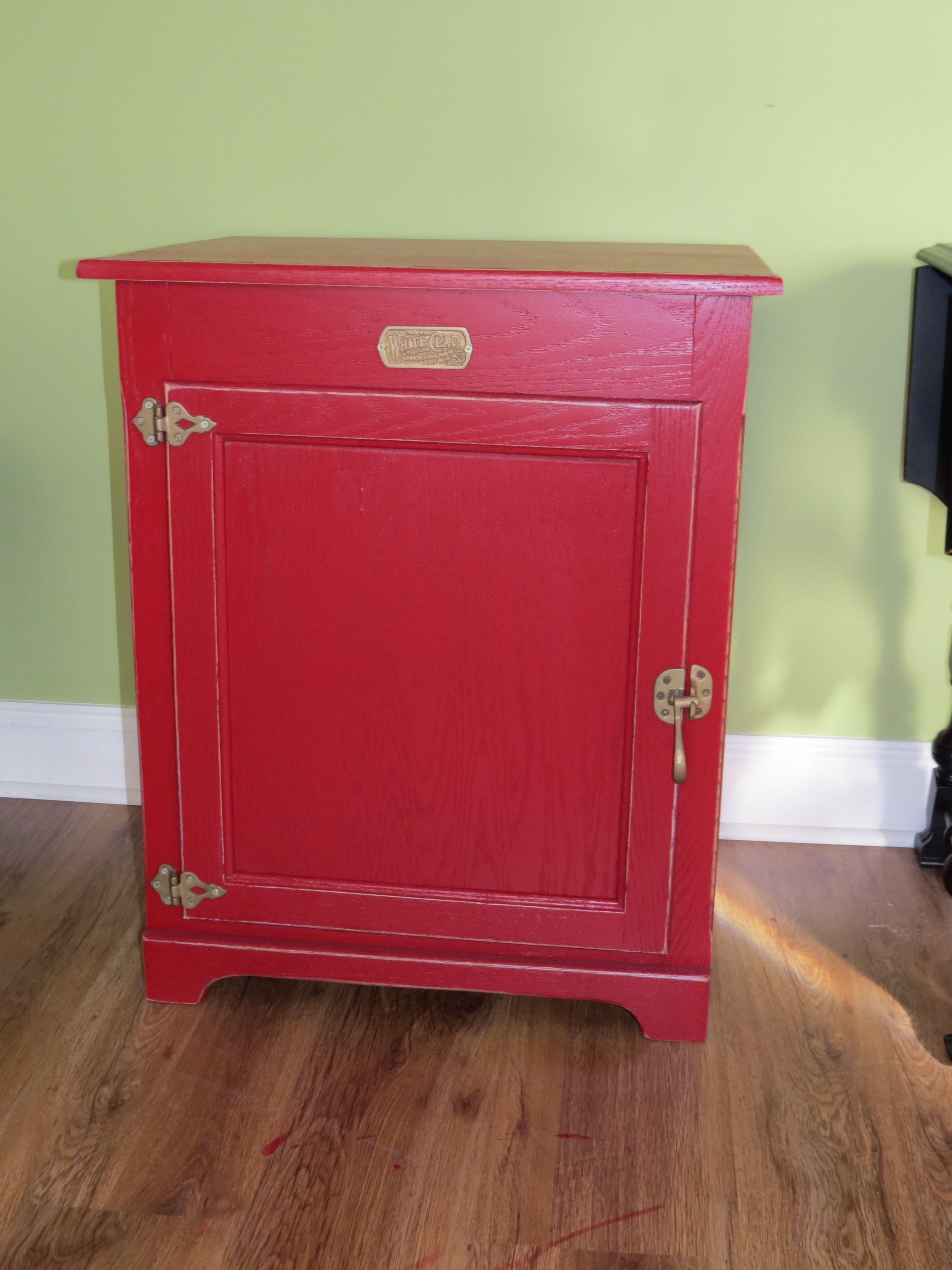 Red Ice Box Ice Boxes Refurbished Furniture