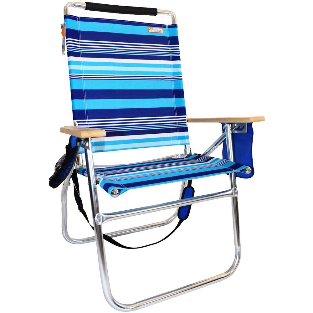 18 Inches High Seat Big Tycoon Beach Chair - North Shore Stripe ...