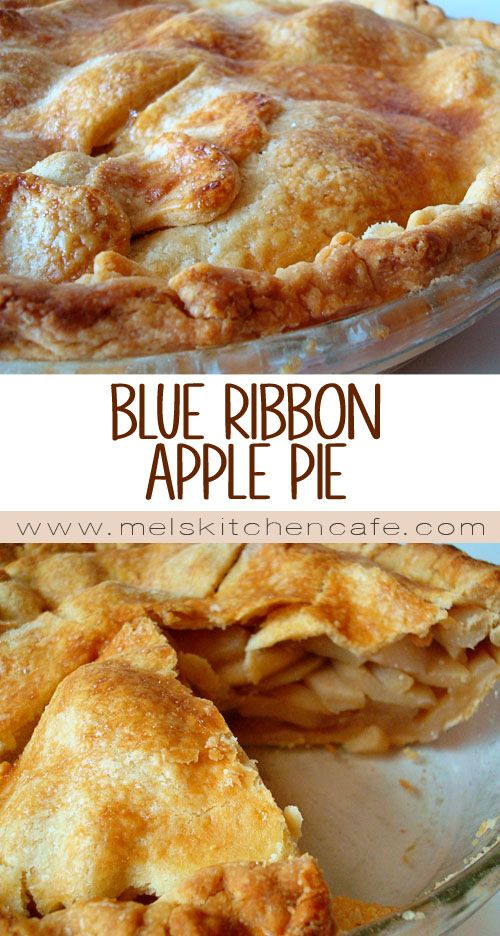 Blue Ribbon Apple Pie #applerecipes