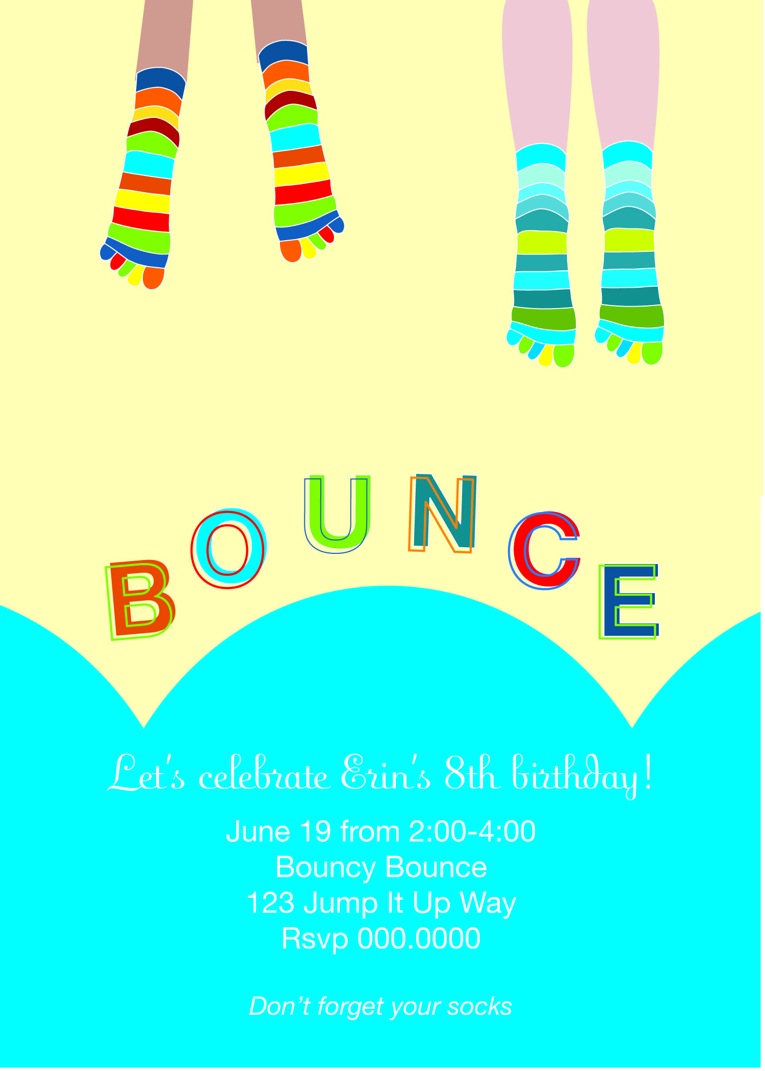 bounce party invitation, #kids stationery | Trampoline party ...