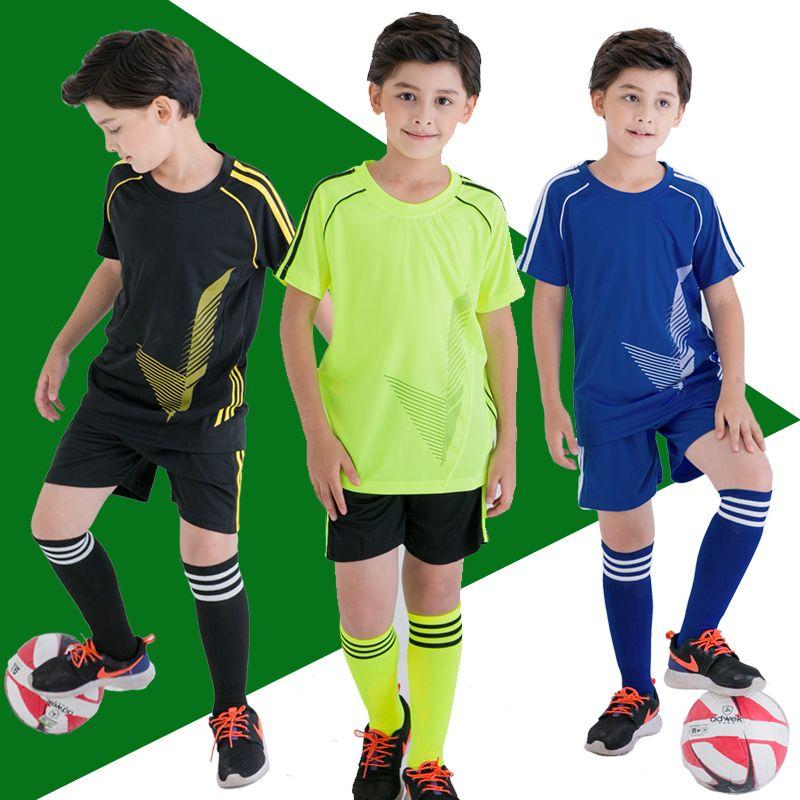 Custom Soccer Jersey Kids Football Jersey 2017 2018 For Children Clothing Set Short Sleeve Boy Clothes Set Summer Tracks Boy Outfits Kids Outfits Football Kids