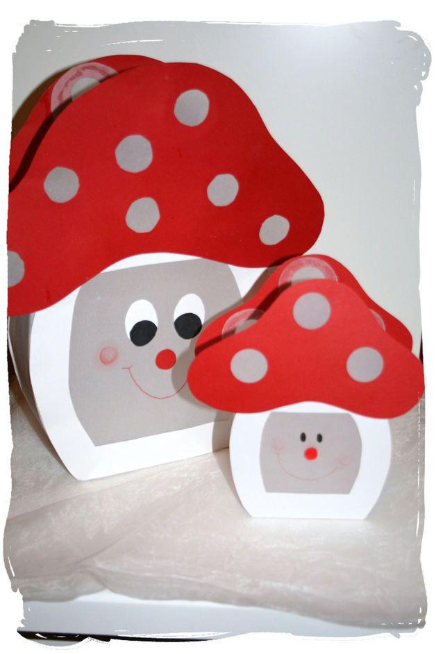 Herbst - Mini - Laterne * Fliegenpilz * St.Martin - ein Designerstück von AtelierFliegenpilz bei DaWanda #bricolageautomne
