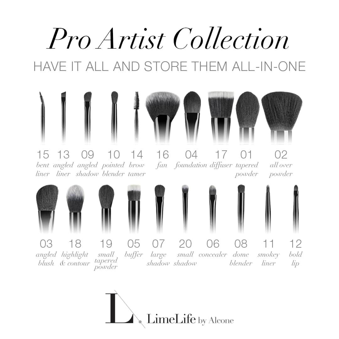 Collections Pro Makeup Brushes From Limelife By Alcone With