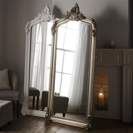 Rococo 183x76cm Leaner Mirror Silver Full Length Mirror Oversized Floor Mirror Full Length Mirror Wall