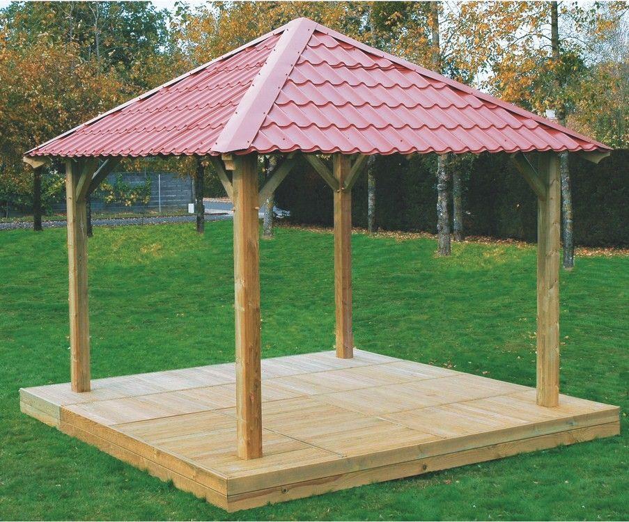 Carbet #bois #toit #rouge | Abris de Jardin | Pinterest | Toit ...