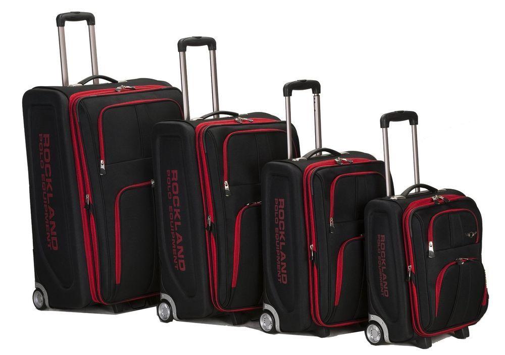 Rockland Luggage Set 4pc Expandable Rolling Suitcase Varsity Polo ...