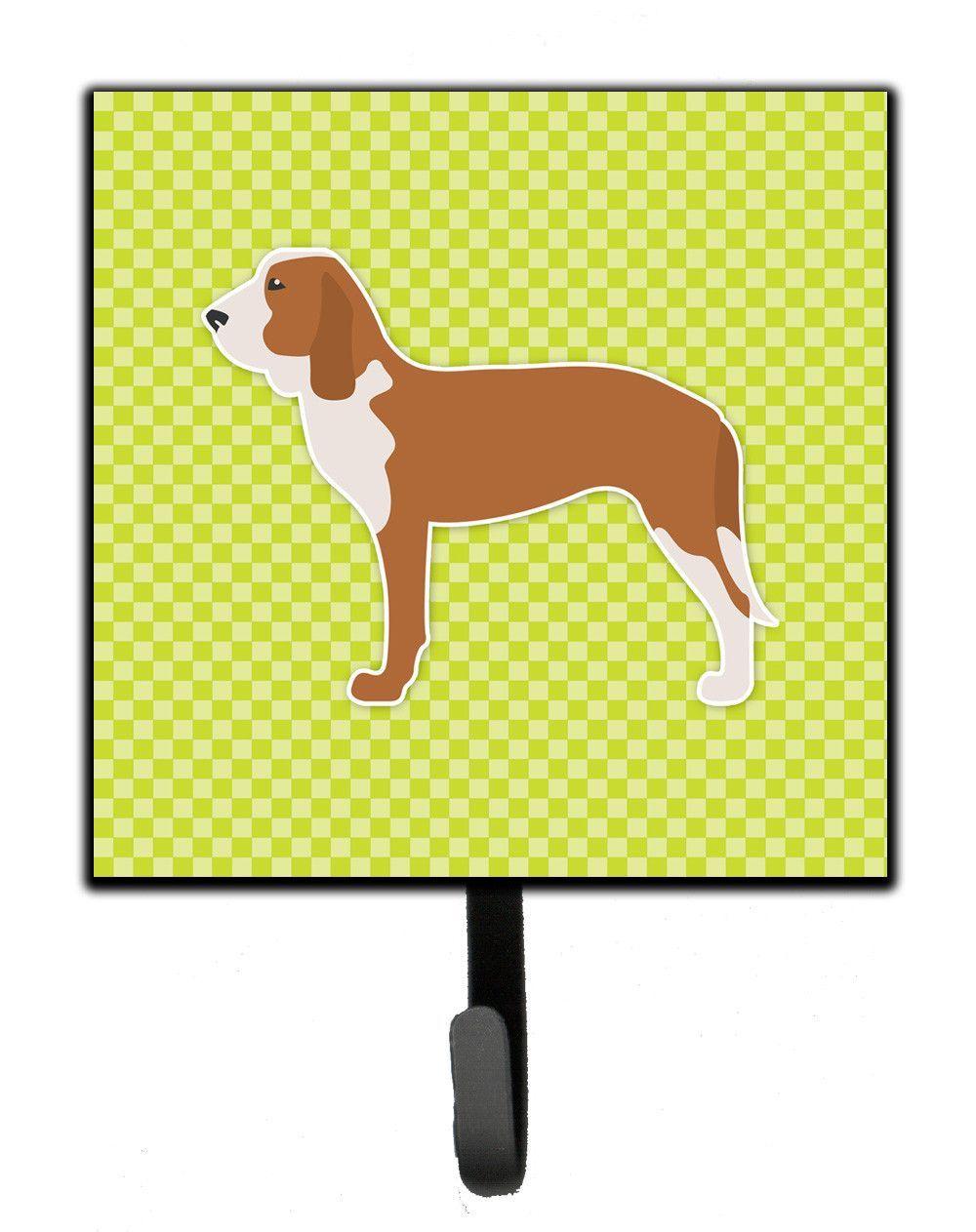 Spanish Hound Checkerboard Green Leash or Key Holder BB3791SH4